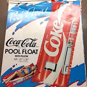 Vintage New Unused 1980's Coca Cola Pool Float wit